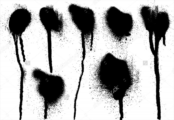 Black Spray Dot Brushes Photoshop