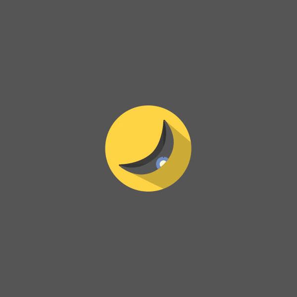 Black circular Banana Logo