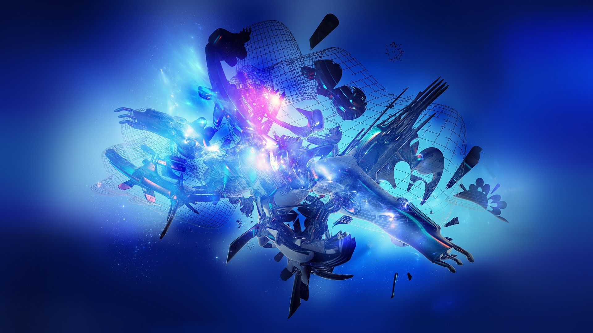 Gaming Black And Blue Abstract Wallpaper