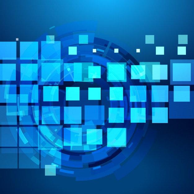 Blue Checkered & Modern Background