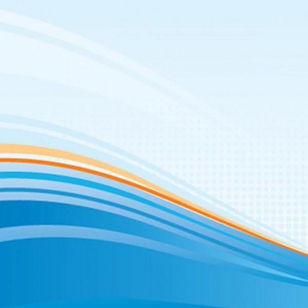 Blue & Orange Wavy Background