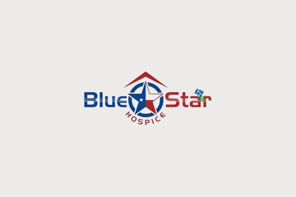 Blue Star Hospice Logo Design