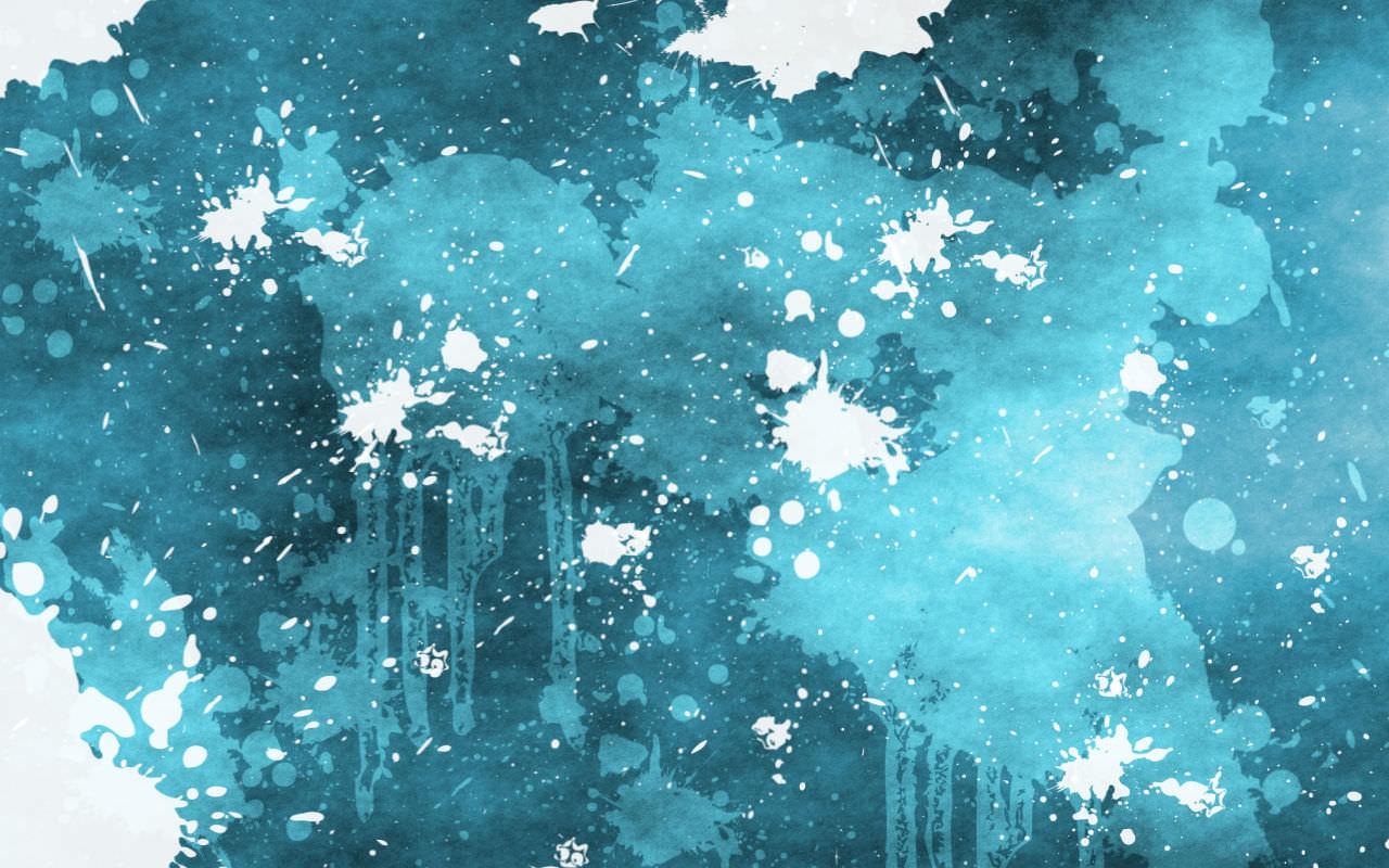 Blue& White Paint Splatter Background