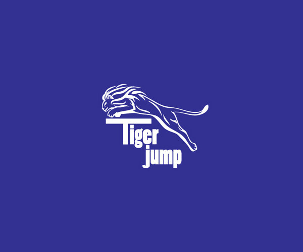 Blue & White Tiger Logo