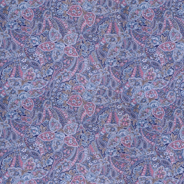 Blue paisley Girly Pattern