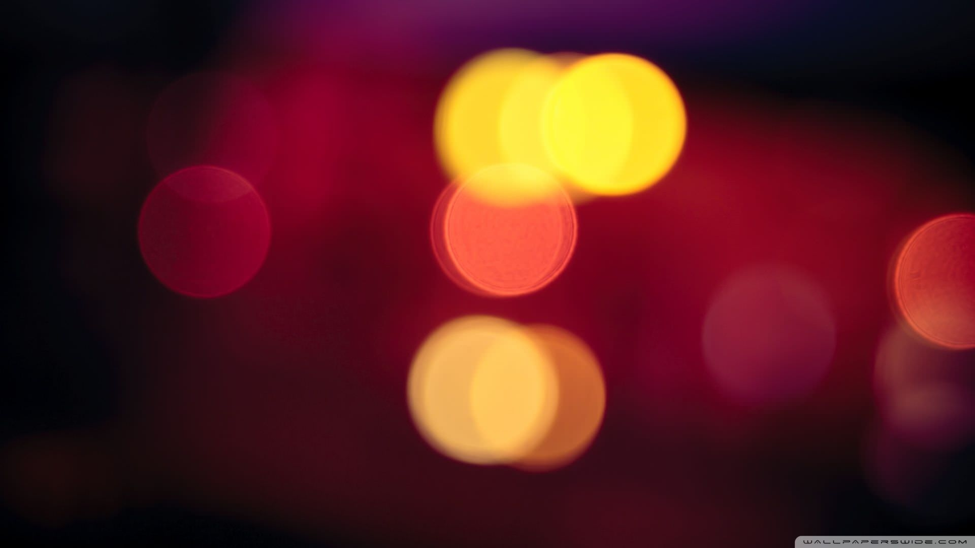 Blurred Bokeh Lights Wallpaper