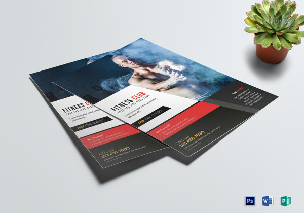 Body Fitness Club Flyer Template