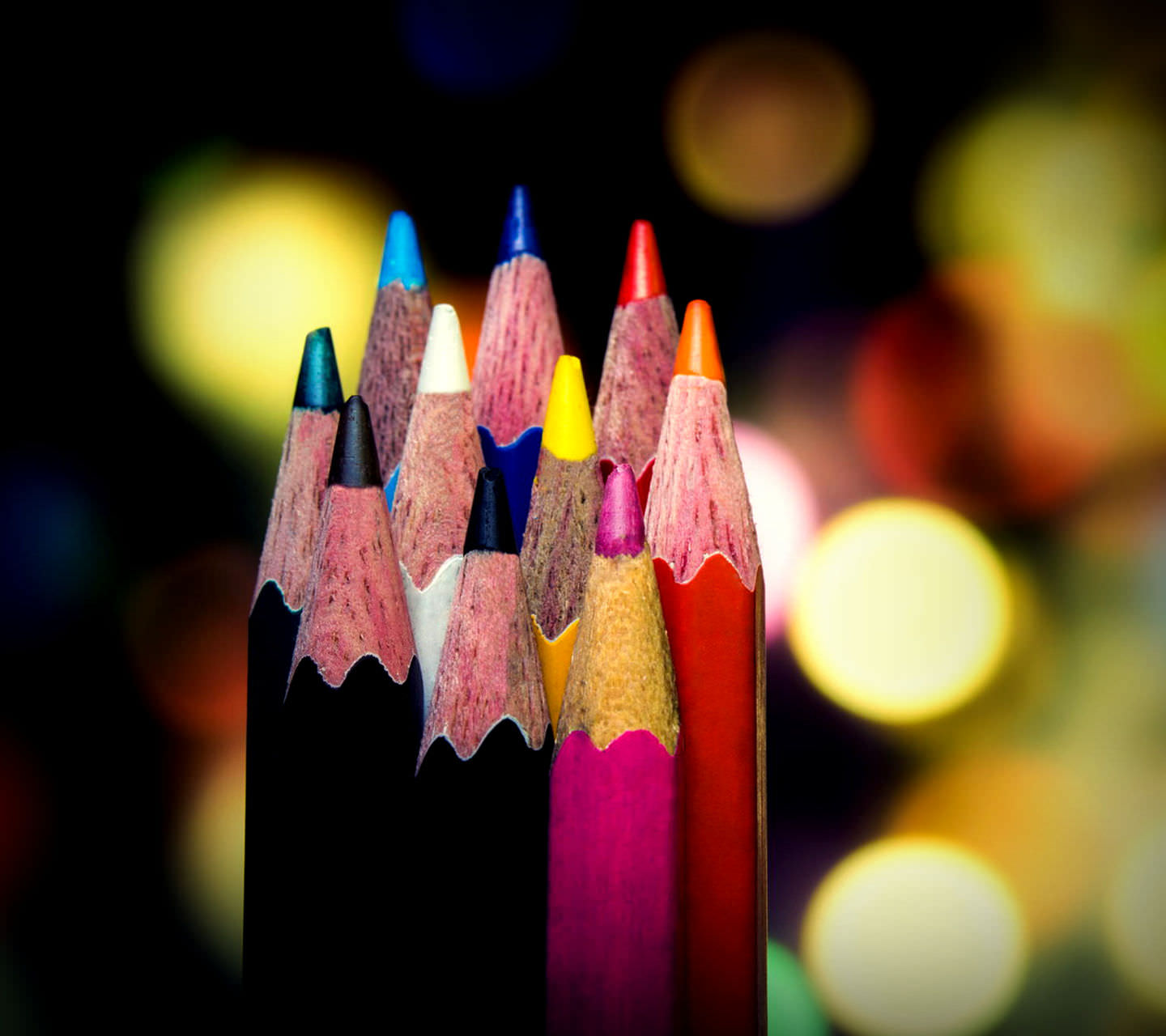 Bokeh Pencils Wallpaper For Free