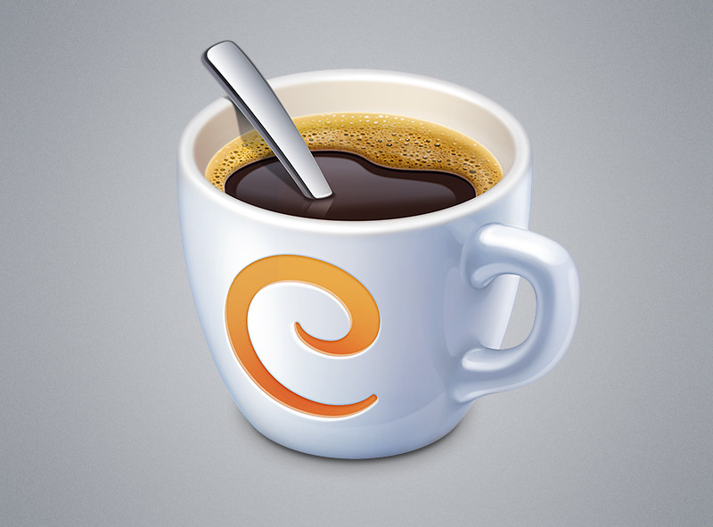 Caffeinated Cup Logo