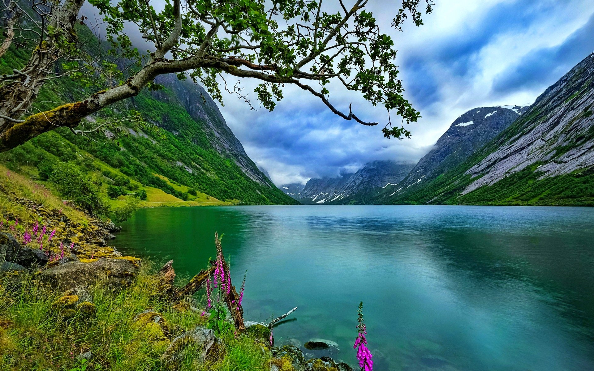Calm Mountain Lake Landscape Wallpaper