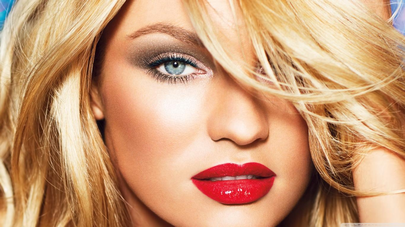 Candice Swanepoel Red Lips Wallpaper
