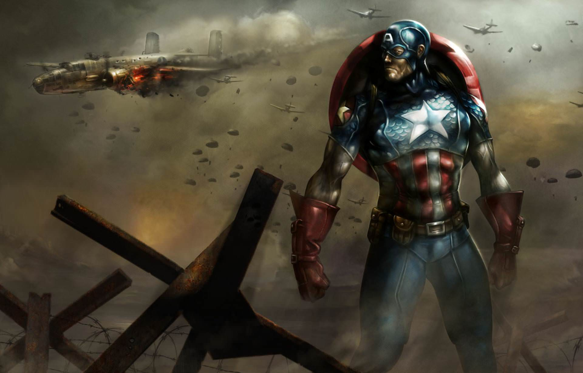 Captain America Cartoon Wallpaper