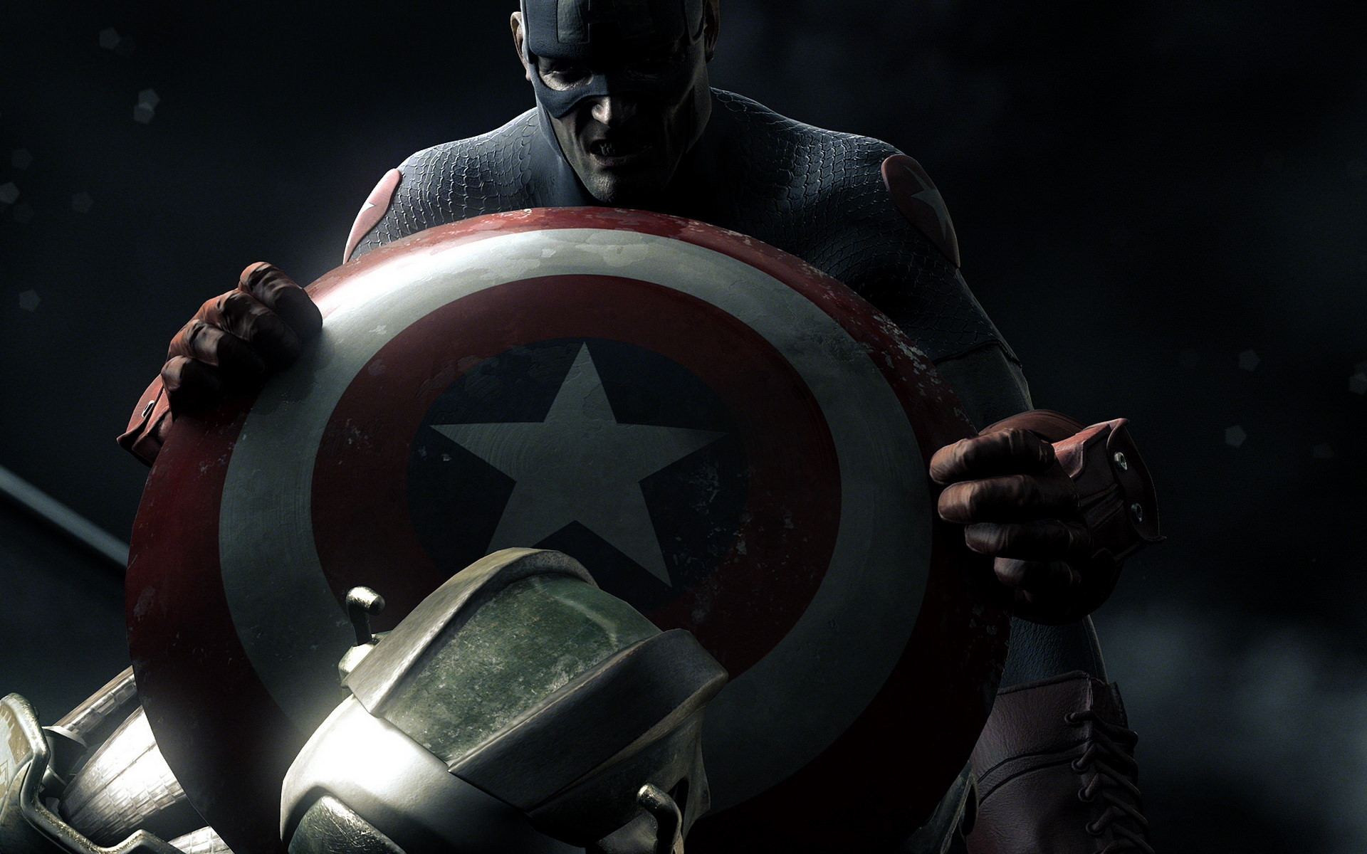 Captain America Fighting Wallpaper