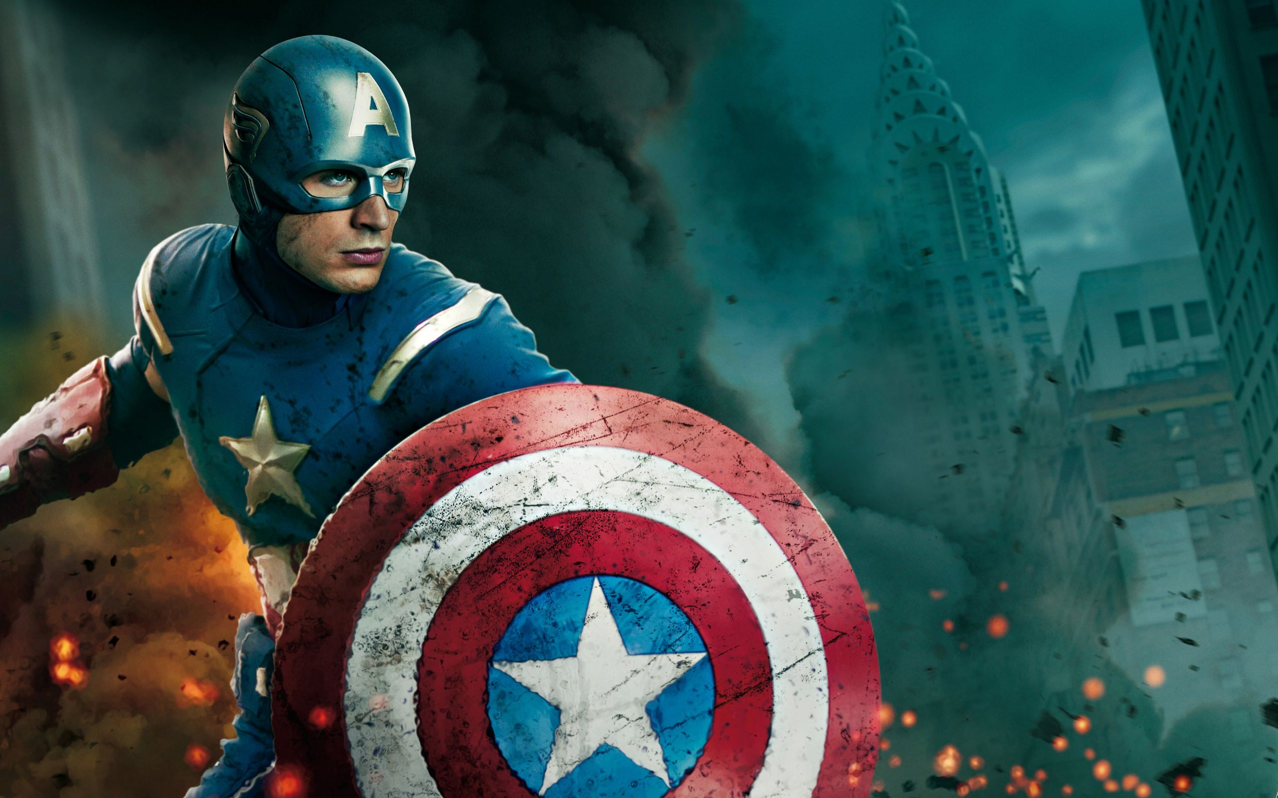 Captain America in War Wallpaper