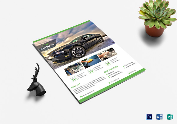 Car Wash Cleaning Service Flyer Template