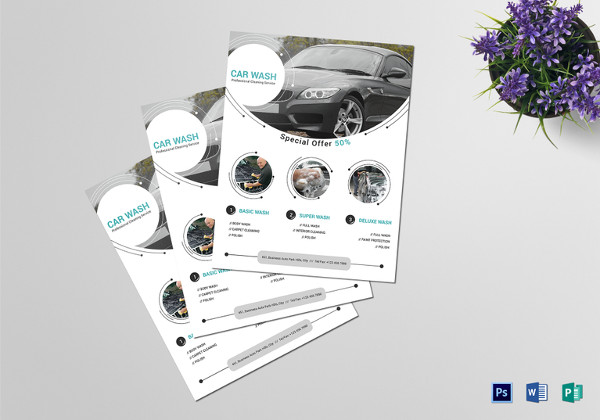 Car Washing Service Flyer Template