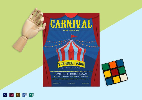 carnival and funfair flyer template1