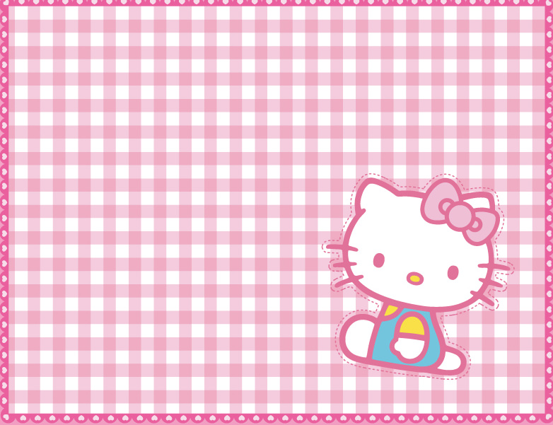 Cartoon Grid Girly pattern