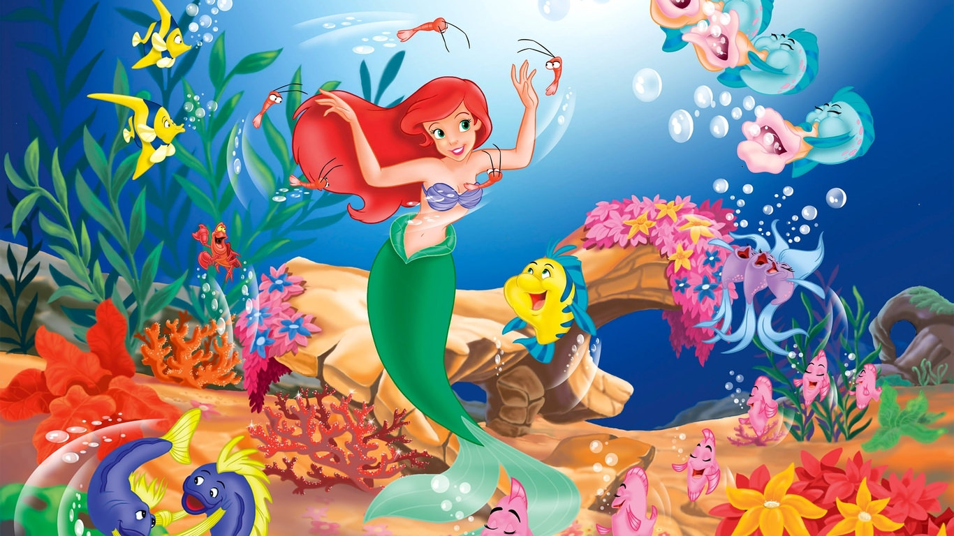 Cartoon Mermaid Wallpaper