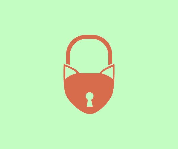 Cat Lock Ears Logo
