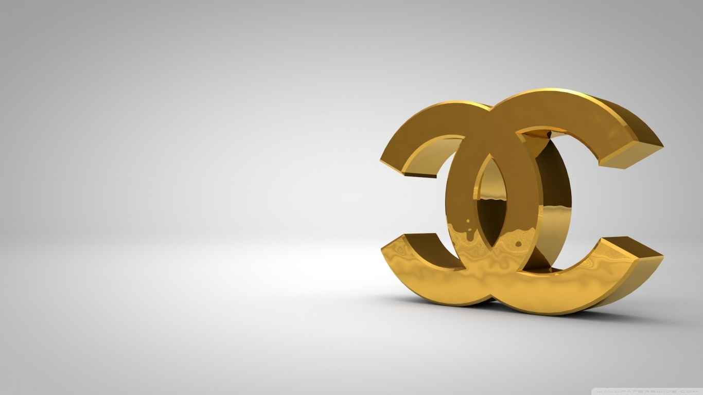 Chanel Logo Golden Wallpaper