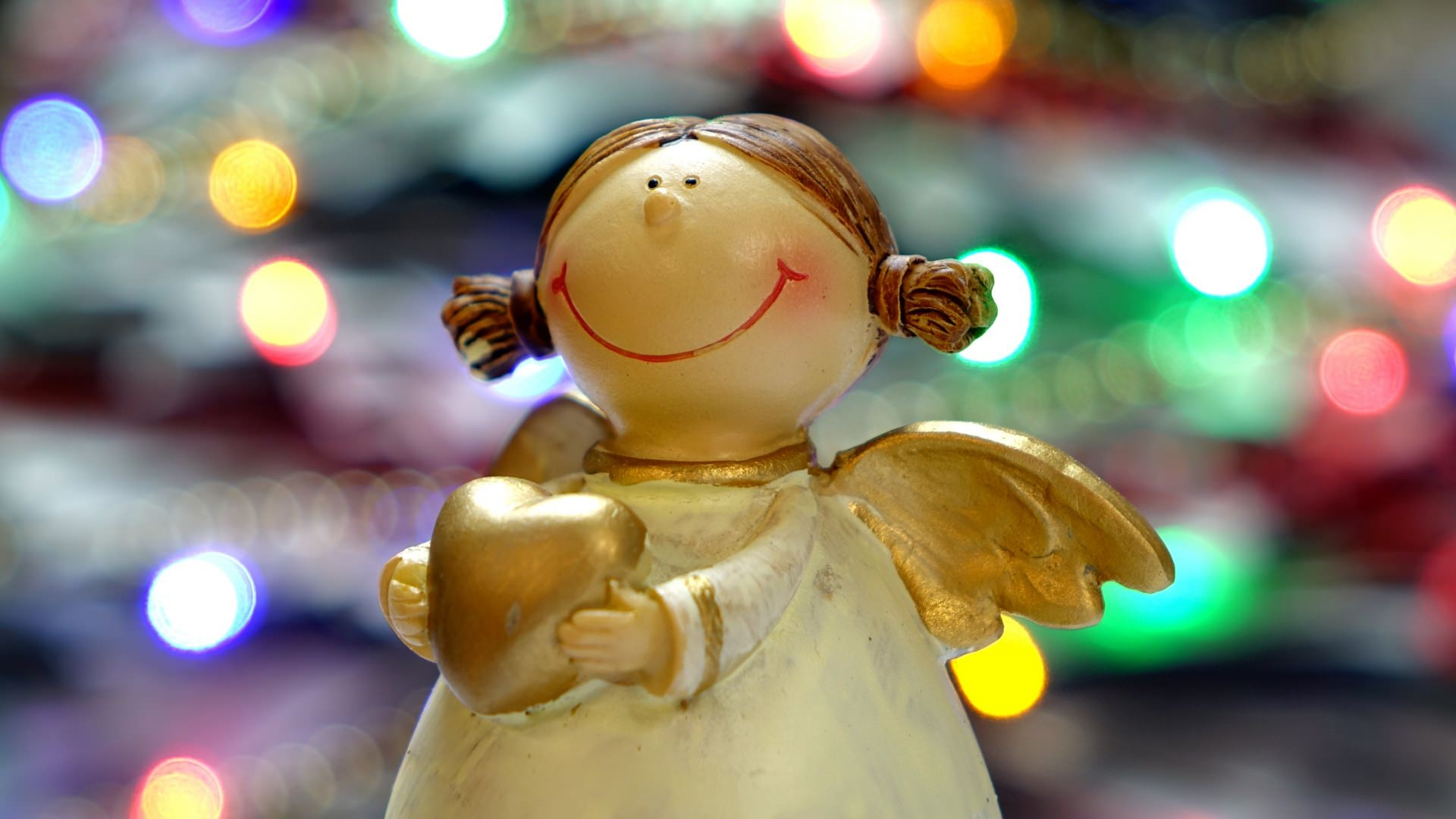 Christmas Angel Statue Wallpaper