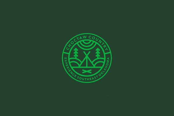 Circular Logo Design For Camping
