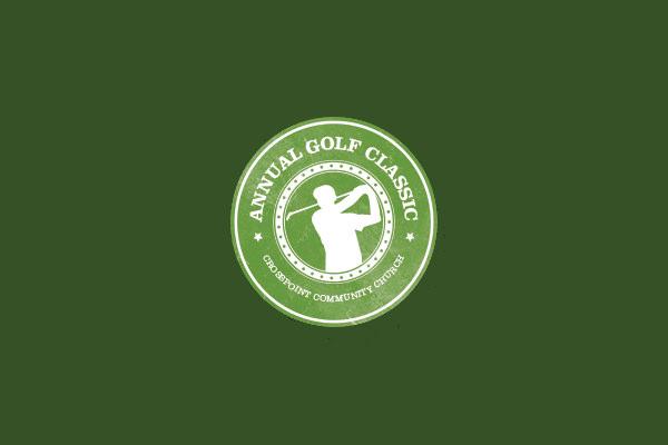 Circular Logo Design For Golf