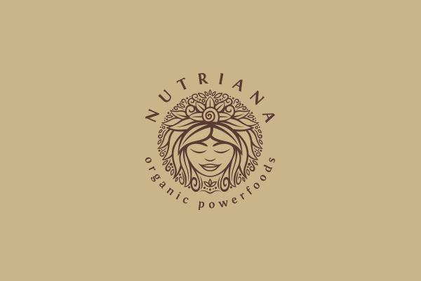Circular Logo for Nutriana Organic Powerfood
