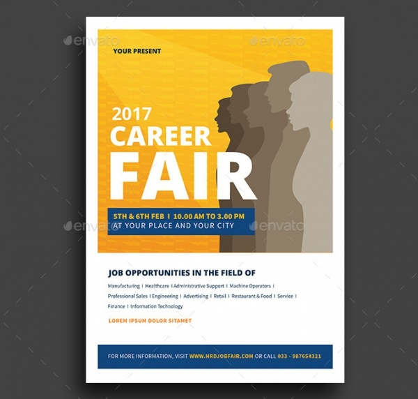 Clean Job Fair Event Flyer