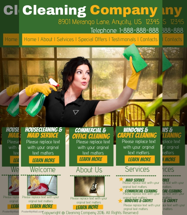 Cleaning Company Service Flyer
