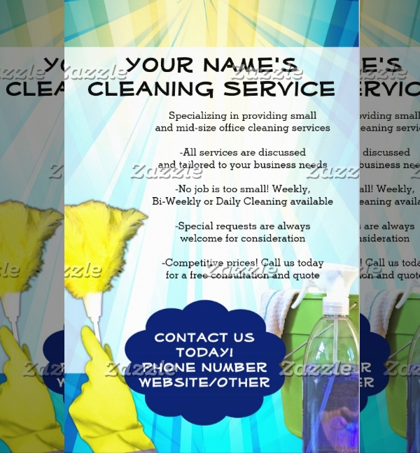 Cleaning Maid Service Business Flyer