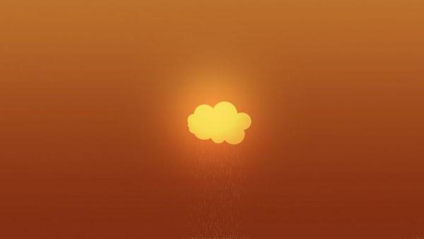 Clouds Minimalistic Gradient Wallpaper