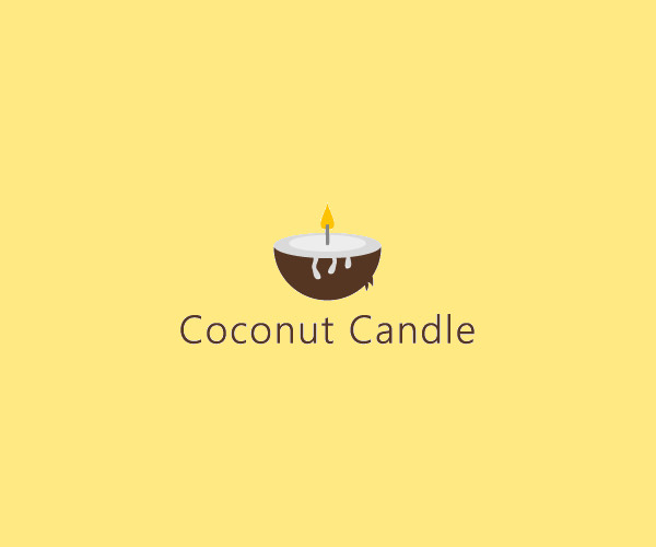 Coconut Candle Decoration Logo