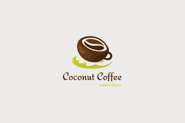 Coconut Coffee Cup Logo