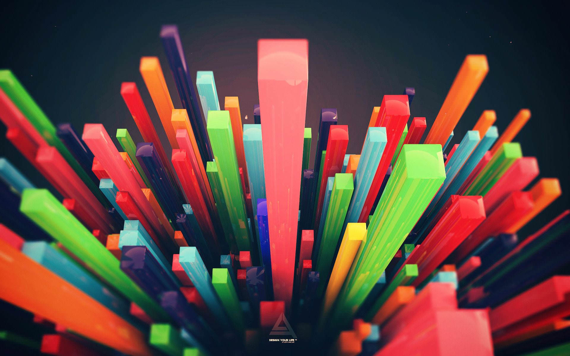 Colorful 3D Artistic Wallpaper