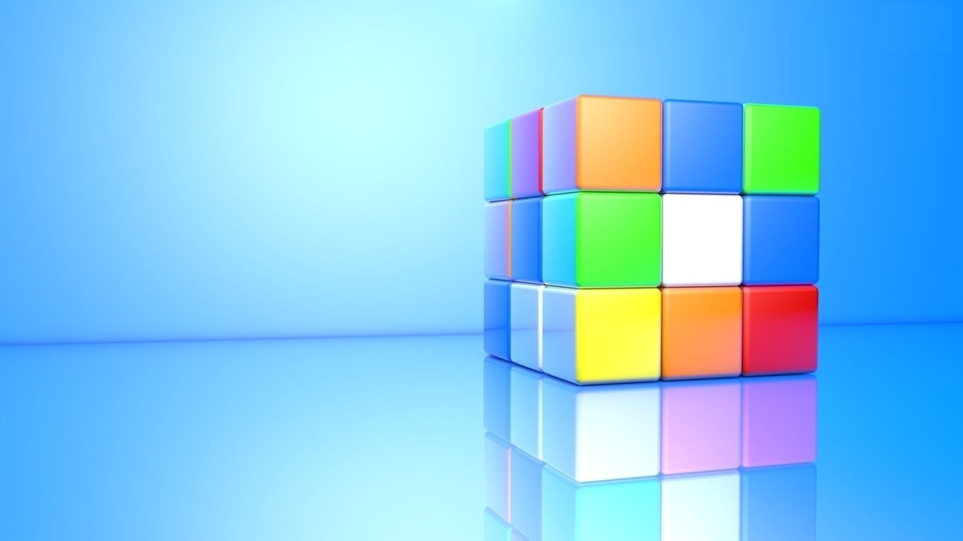 Colorful 3D Rubik's Cube wallpaper