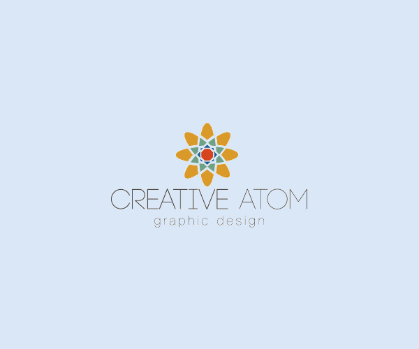Colorful Atom Mandala Logo