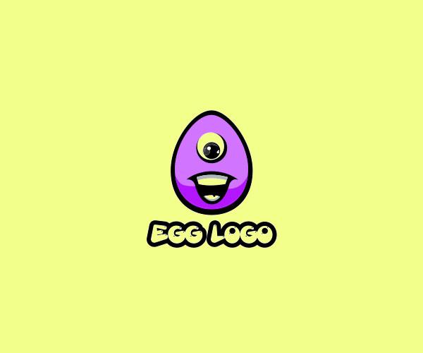 Colorful Funny Egg Logo