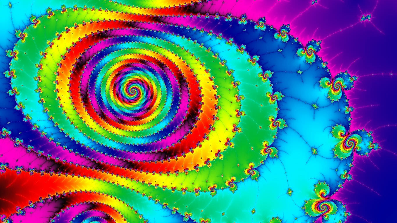 Colorful Rainbow Spiral Wallpaper