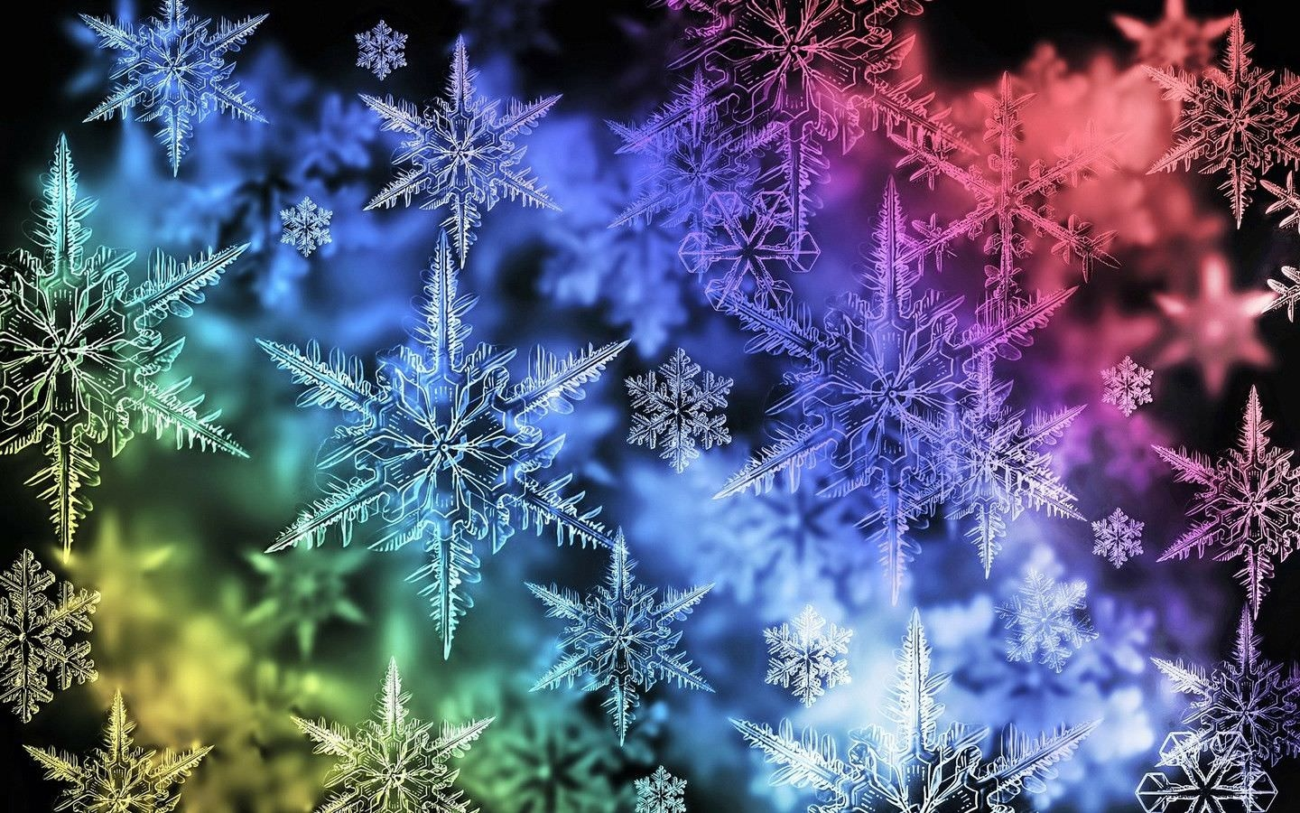 Colorful Snowflake Desktop Wallpapers