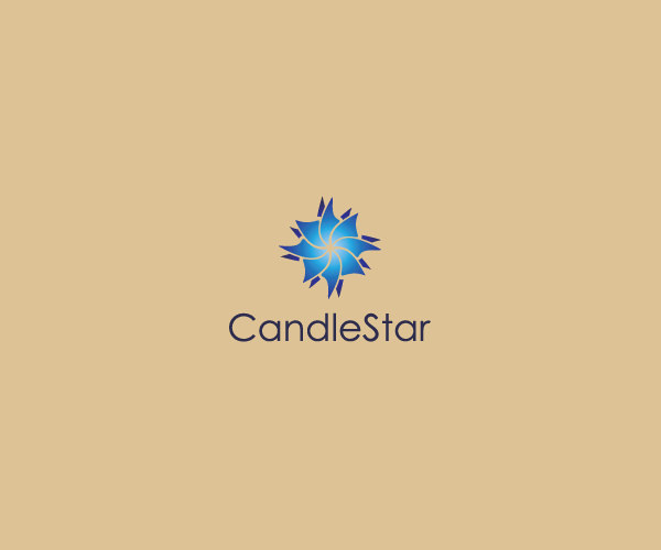 Compass Shaped Candle Logo