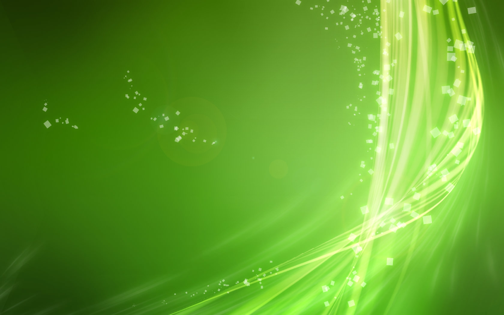 Computer Green Abstract Wallpaper