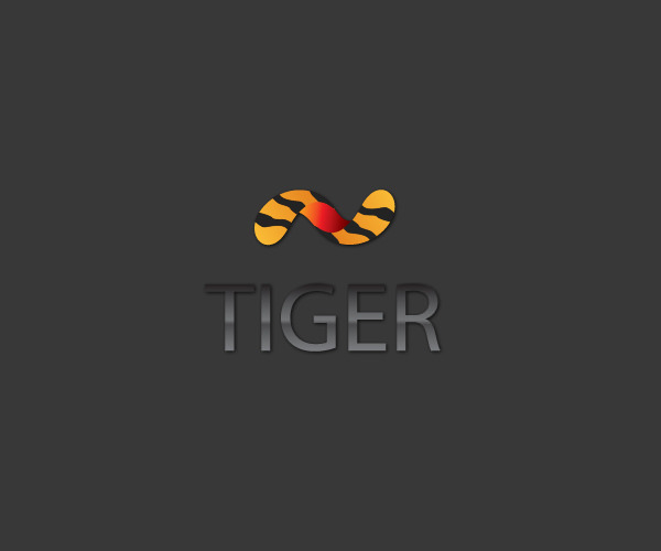 Computer Programmed tiger Logo