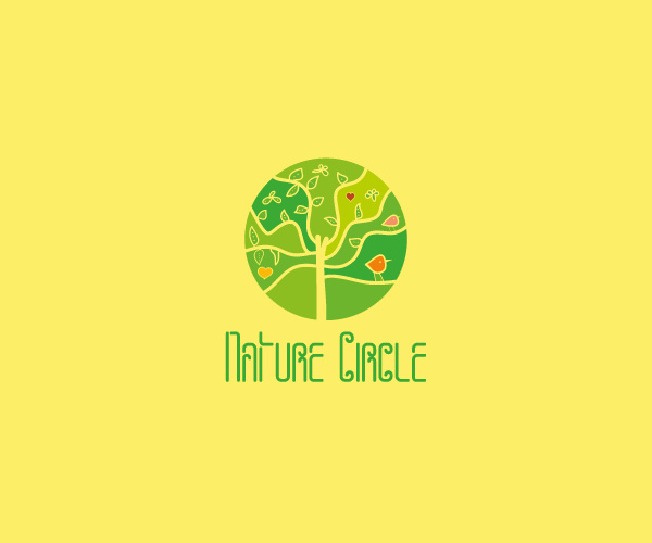 Cool Nature Circle Logo