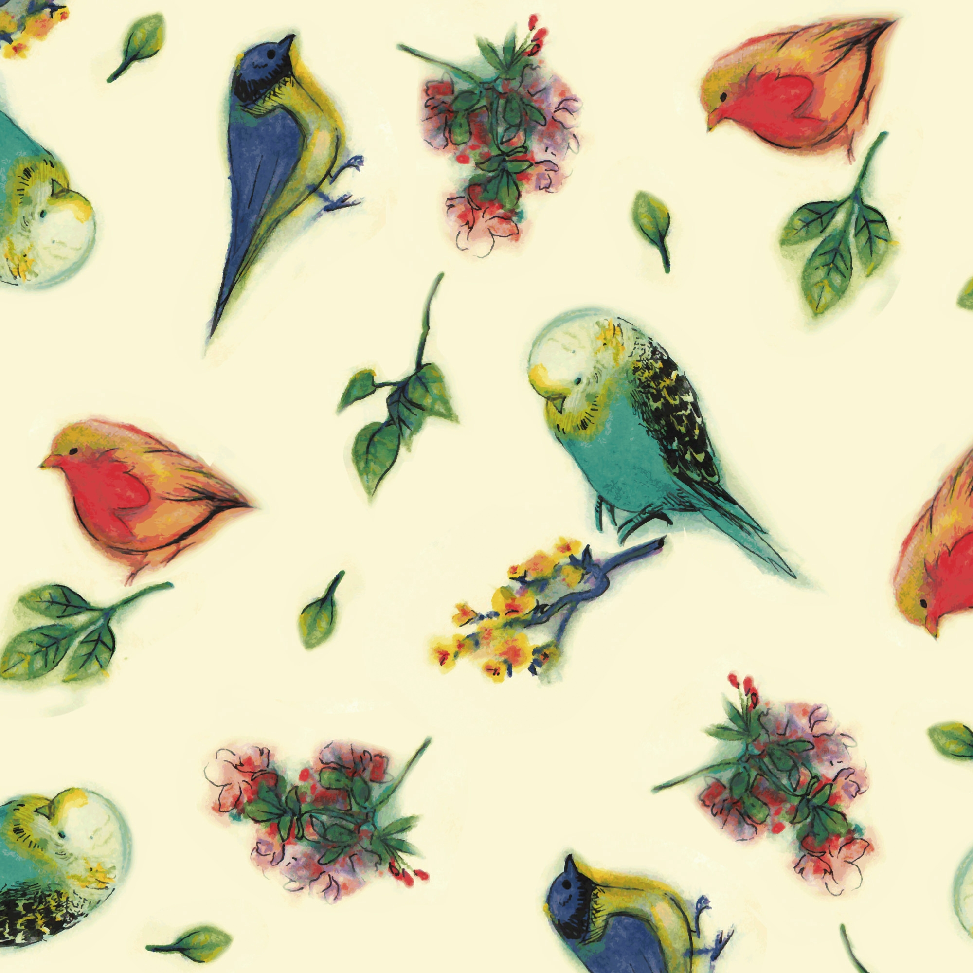 Cool Watercolor Bird Patterns