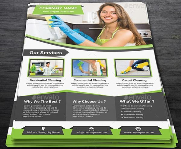 Creative Cleaning Service Flyer