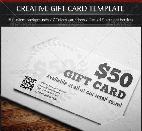 Creative Gift Card Template