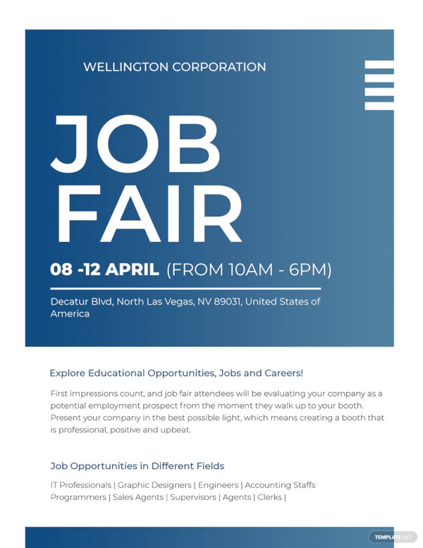 creative job fair flyer