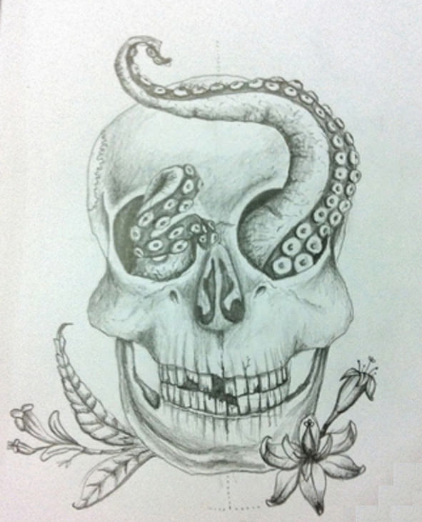 Creative Skull Drawing